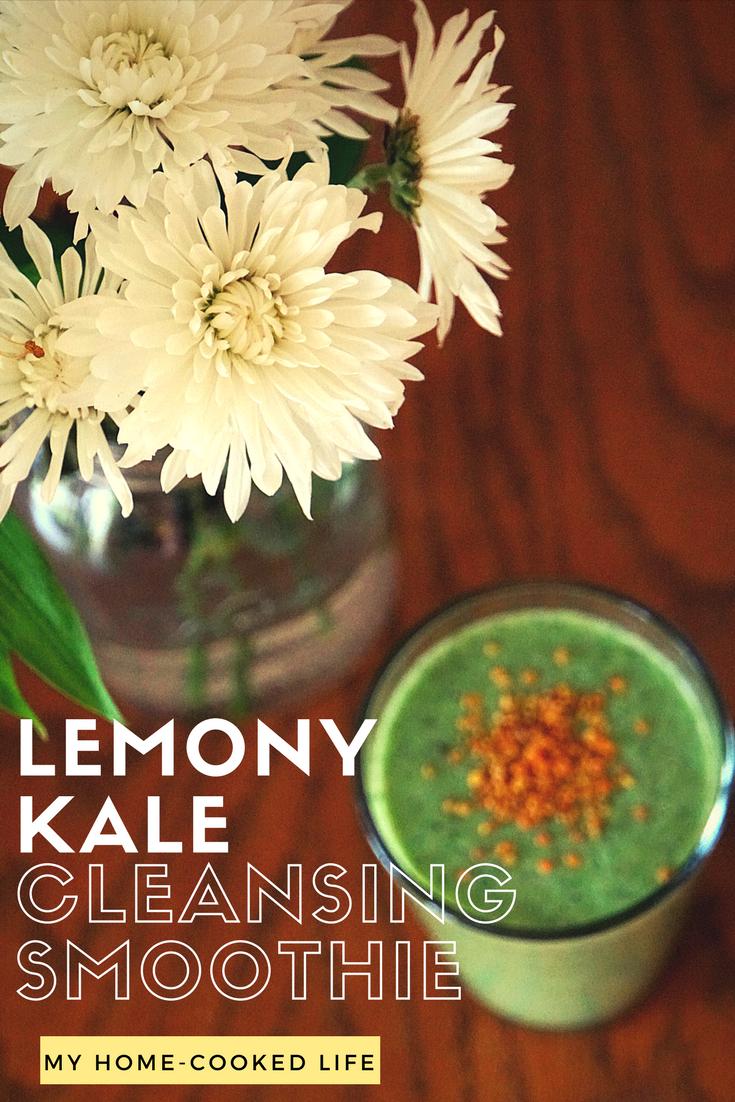 Lemony Kale Cleansing Smoothie
